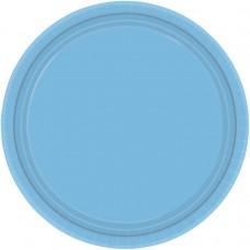 Powder Blue Paper Plates 22.8cm