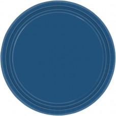 PLATE 22.8cm s/c:nvy flag blue