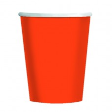 CUP 266ml s/c:orange pl