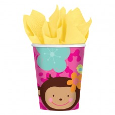 Monkey Love Paper Cups 266ml