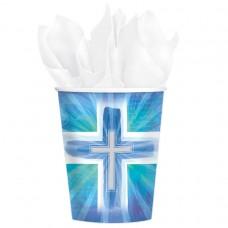 CUP:JOYOUS CROSS BLUE