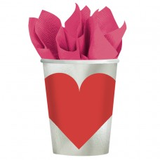 Key To Your Heart  Paper Cups 266ml