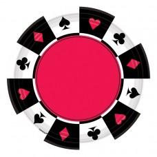 Casino Round Paper Plates 26.6cm
