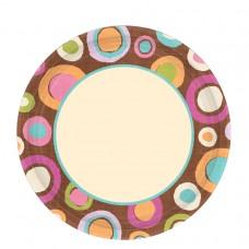Cocoa Dots Paper Plates 26.6cm (ECO)