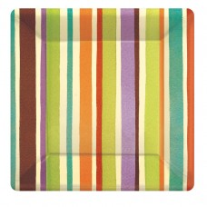 Crafty Stripe Paper Plates 26.6cm (ECO)