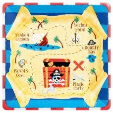 Pirates Treasure Paper Plates 25.4cm