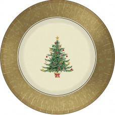 Classic Victorian Tree Metallic Plates 30.5cm