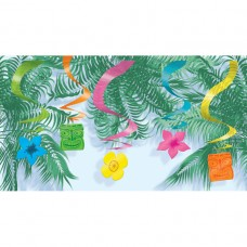 Hawaiian Themed Party Hanging Swirl Decoration