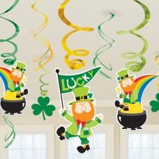 St. Patrick's Day Hanging Swirls