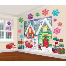 North Pole mega value wall Decorating kit