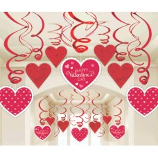 Happy Valentine's Day Hanging Swirls