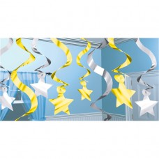 Silver & Gold Shooting Stars Multipack
