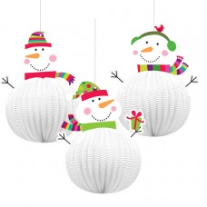 Joyful Snowman 3D hanging Decorations