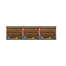 Hawaiian Themed Party Scene Setter Thatched Weave Border Rol
