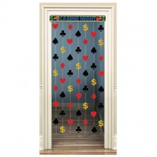 Casino Party Door Curtain Foil