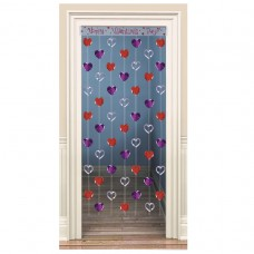 Hearts Foil Cascade Curtain