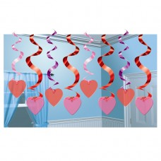 Candy Hearts Hanging Swirls
