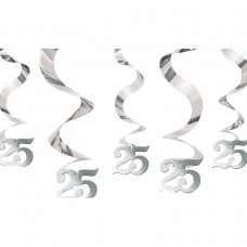 DEC HANG swirl:SILVER ANNIVERS
