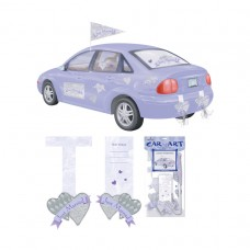 Just Married Car Art Decorating Kit