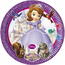 Sofia The First Plates Paper Large  23cm