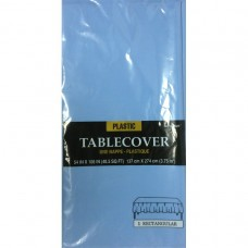 Pastel Blue Tablecover - Plastic Rect