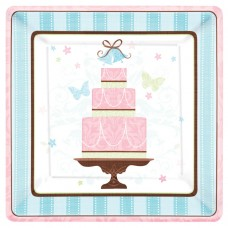 Blushing Bride Paper Plates 26.6cm