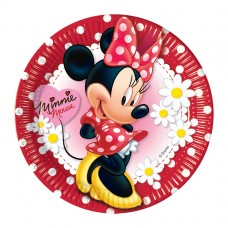 Minnie Mouse Daisies Paper Plates