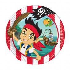 Jake & Pirates 8 Plates 23cm