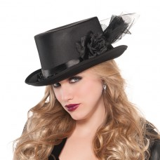 Black Top Hat Embellished
