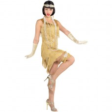 Champagne Flapper Dress
