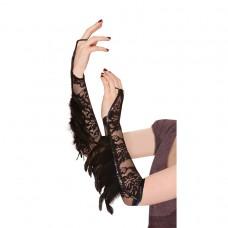 Gloves Raven Fantasy Feather