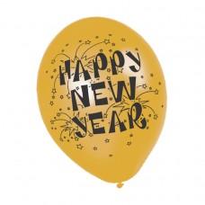 BALLOON pk6 27.5cm:HY NEW YEAR
