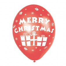 Merry Christmas Latex Balloons