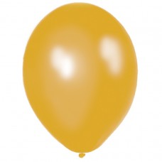BALLOON pk100 12.5cm met:gold