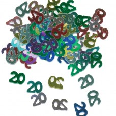 Numeral 20 Metallic Confetti