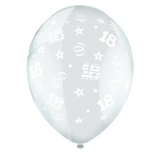 BALLOON 28cm:B'DAY 18-Clear
