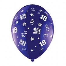 BALLOON 28cm:B'DAY 18-Purple