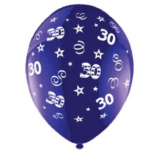 BALLOON 28cm:B'DAY 30-Purple