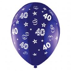 BALLOON 28cm:B'DAY 40-Purple