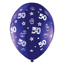 BALLOON 28cm:B'DAY 50-Purple