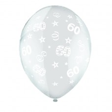 BALLOON 28cm:B'DAY 60-Clear