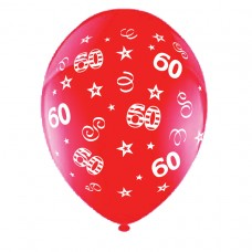 BALLOON 28cm:B'DAY 60-Red