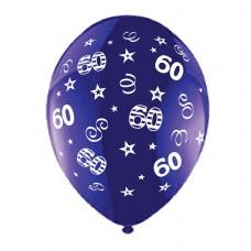 BALLOON 28cm:B'DAY 60-Purple