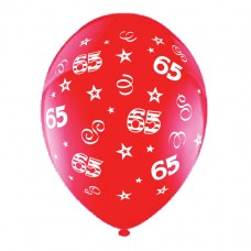 BALLOON 28cm:B'DAY 65-Red