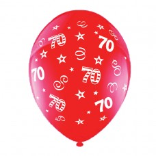 BALLOON 28cm:B'DAY 70-Red