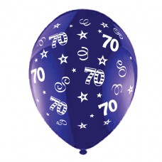 BALLOON 28cm:B'DAY 70-Purple