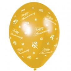 BALLOON 28cm:ANIV ROSES-Gold
