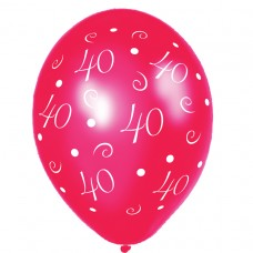 BALLOON 28cm:ANNIV 40-Red