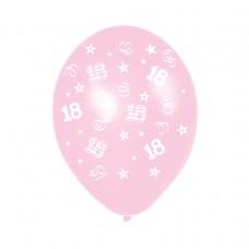 BALLOON 28cm:BDAY 18-p pink
