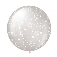 BALLOON 1m cele:STARS clear